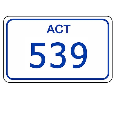 ACT Number Plate 539