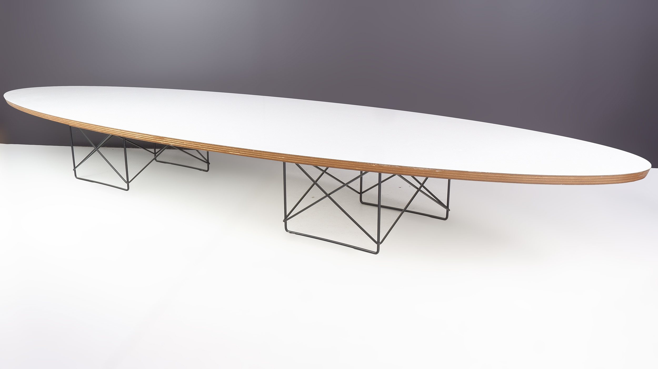 'Genuine Charles Eames Elliptical Coffee Table Manufactured by Vitra'