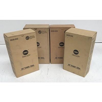 Minolta MT Toner 105A Toner Cartridges - Lot of Eight