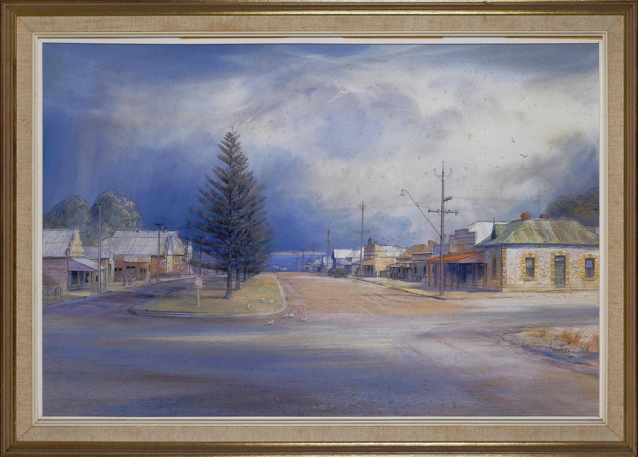 'Kenneth Jack (1924-2006), Port Victoria, South Australia 1985, Watercolour on Paper'