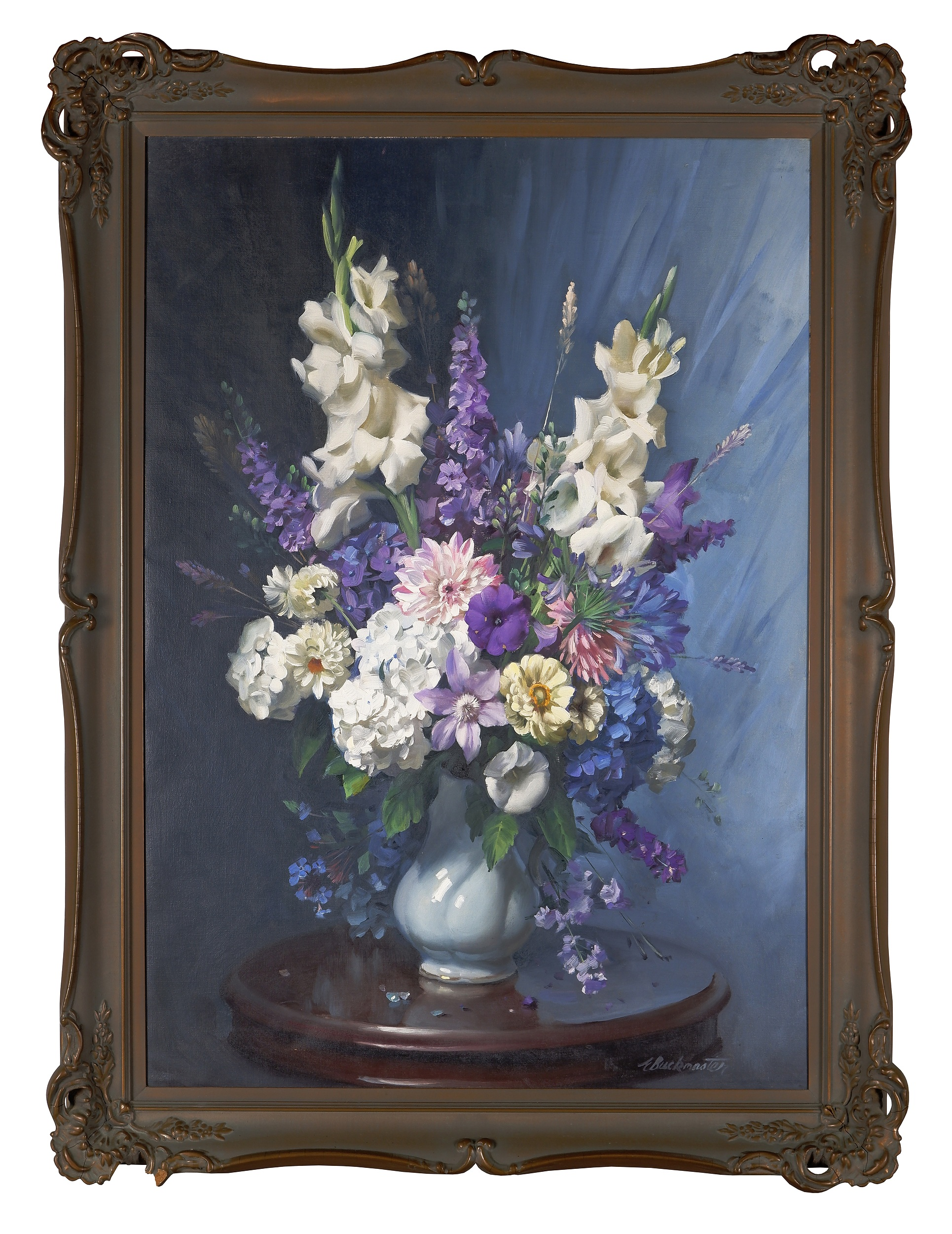 'Ernest Buckmaster (1897-1968), Flowerpiece, Oil on Canvas'