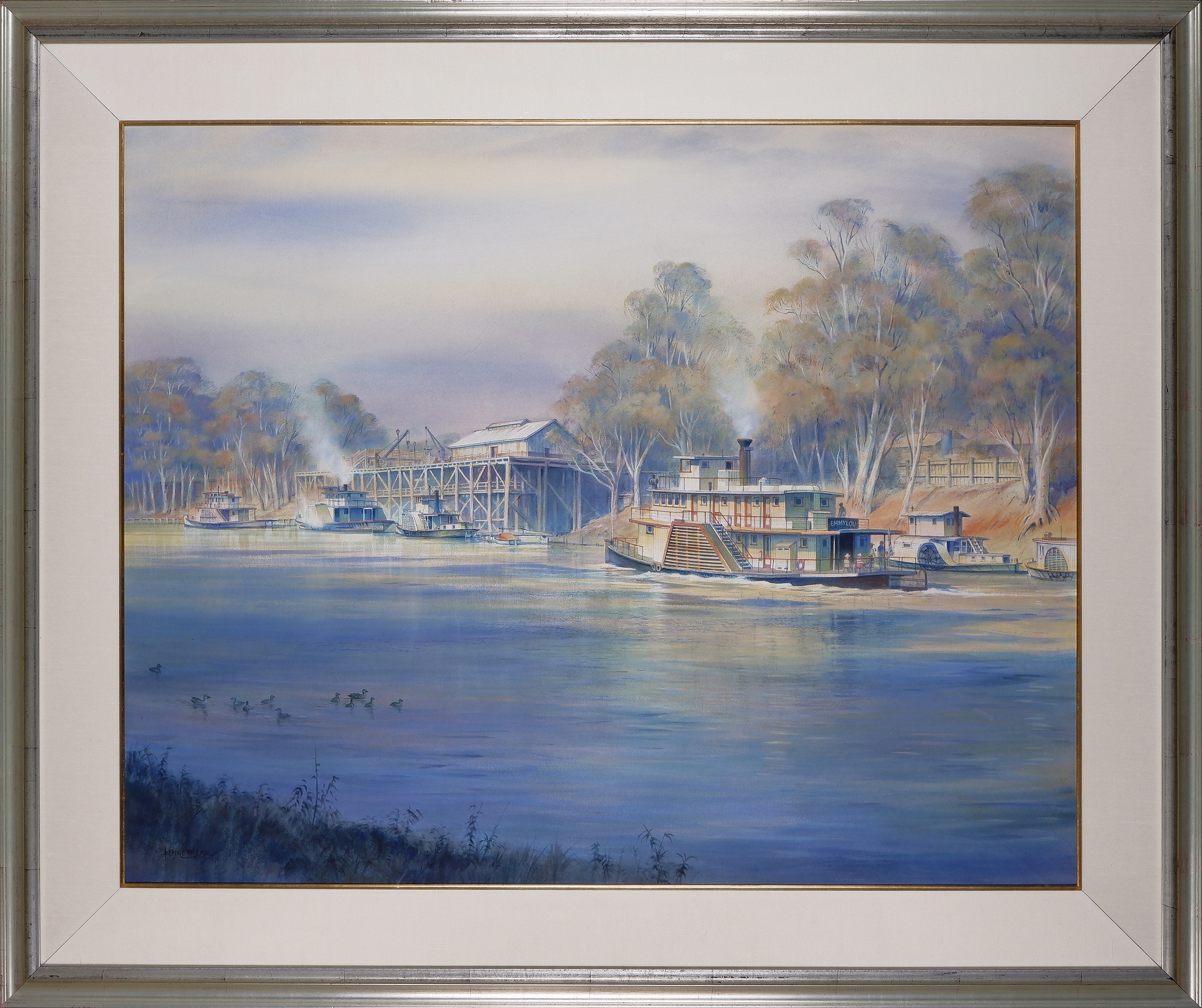 'Kenneth Jack (1924-2006), Echuca, Victoria, Watercolour on Paper'