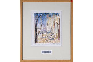 Arthur Boyd (1920-1999), Trees on Hillside, Riversdale, Limited Edition Facsimile Print
