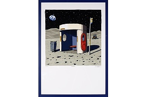 Trevor Dickinson, The Moon, Limited Edition Facsimile Print