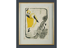 Henri de Toulouse-Lautrec (French 1864-1901), Jane Avril, Serigraph