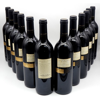 Heathcote Winery 2001 Mail Coach Shiraz - Case of 12 Bottles