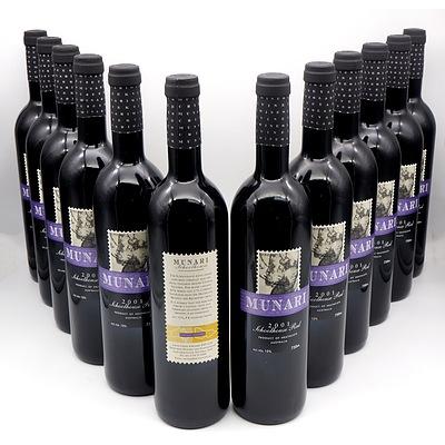 Munari Heathcote 2001 Schoolhouse Red - Case of 12 Bottles