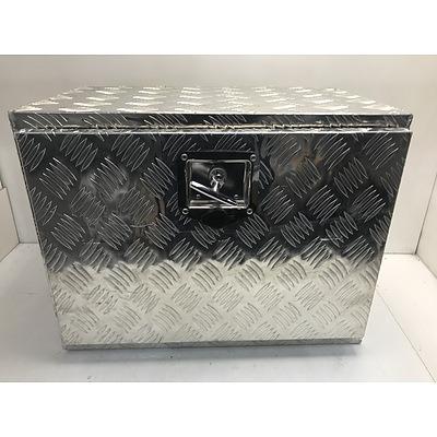 Checkerplate Tray Storage Box
