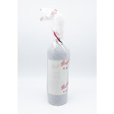 Penfolds RWT 2001 Barossa Valley Shiraz - Bottle No 048438