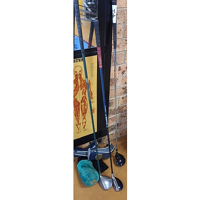 Set of Three Left Handed Golf Clubs