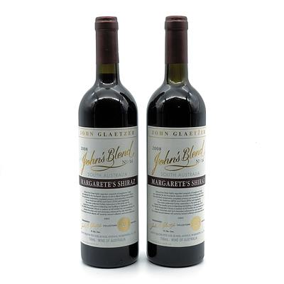 John Glaetzer John's Blend 2008 No. 14 Margarete's Shiraz - Lot of Two Bottles (2)