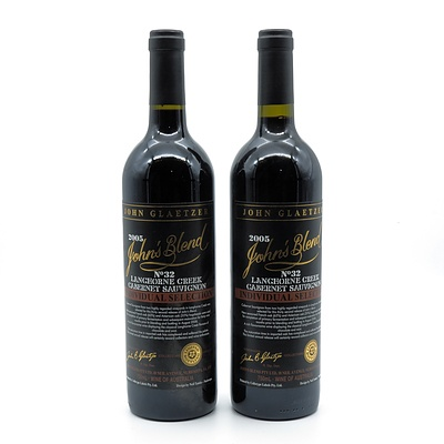 John Glaetzer John's Blend No 32 2005 Cabernet Sauvignon - Lot of Two Bottles (2)