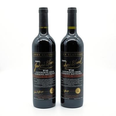 John Glaetzer John's Blend No 32 2005 Cabernet Sauvignon - Lot of Two Bottles (2)