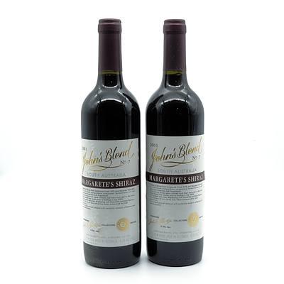 John Glaetzer John's Blend 2001 No. 7 Margarete's Shiraz - Lot of Two Bottles (2)