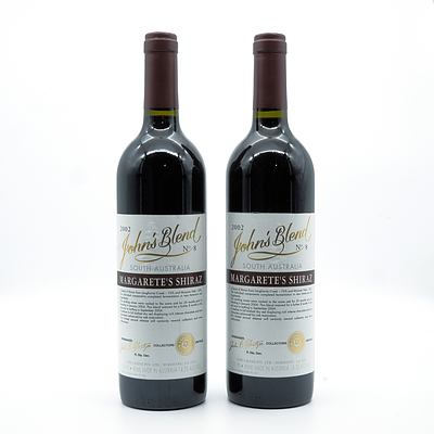 John Glaetzer John's Blend 2002 No. 8 Margarete's Shiraz - Lot of Two Bottles (2)