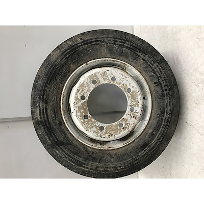 Eight Stud Truck Rim With Brand New Tyre