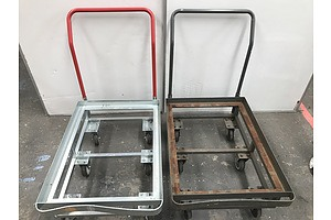 Six Wheel Goods Trolleys -Lot Of Two