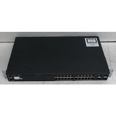 Cisco Catalyst (WS-C2960X-24TS-L V02) 2960-X Series 24-Port Gigabit Managed Switch