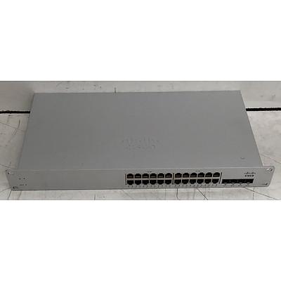 Cisco Meraki (MS220-24-HW) MS220-24P 24-Port Cloud Managed Switch