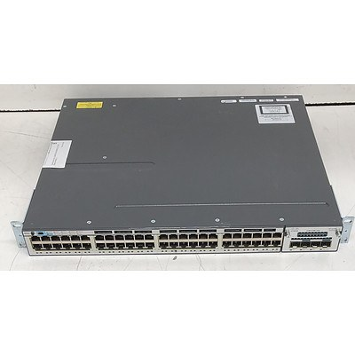 Cisco Catalyst (WS-C3750X-48P-S V04) 3750-X Series PoE+ 48-Port Gigabit Managed Switch
