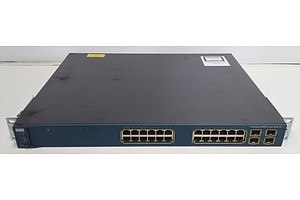 Cisco Catalyst (WS-C3560G-24PS-S V08) 3560G Series PoE-24 24 Port Managed Gigabit Ethernet Switch