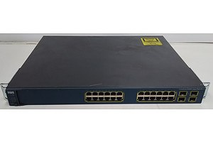 Cisco Catalyst (WS-C3560G-24PS-S V05) 3560G Series PoE-24 24 Port Managed Gigabit Ethernet Switch