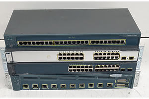 Cisco Catalyst Assorted Ethernet Switches - Lot of Four