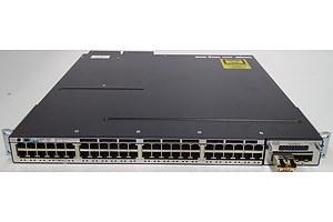 Cisco (WS-C3750X-48PF-S V06) Catalyst 3750-X Series POE+ 48 Port Stackable Gigabit Ethernet Switch