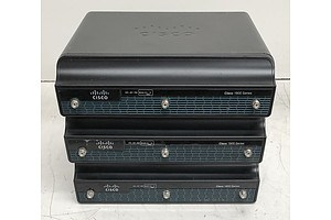 Cisco Assorted 1900 Series Integrated Services Routers - Lot of Three