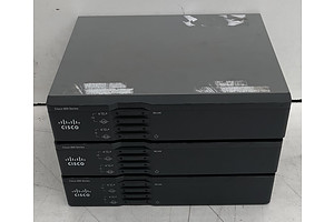 Cisco (C867VAE-W-E-K9 V01) 860 Series Integrated Services Routers - Lot of Three