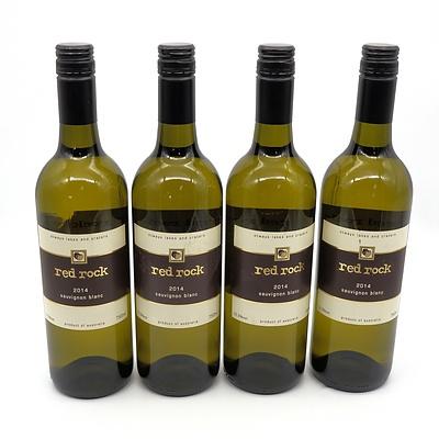 Red Rock 2014 Sauvignon Blanc - Lot of Four Bottles (4)