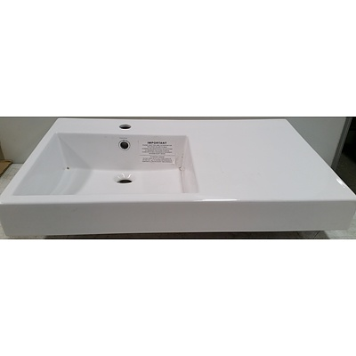 Caroma Liano Nexus 750 Shelf Wall Basin - As New - RRP $650.00