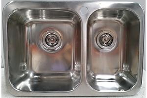 Clark Polar 1.5 Bowl Stainless Steel Overmount Kitchen Sink - RRP $580.00 - New