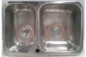 Clark Polar 1.5 Bowl Stainless Steel Overmount Kitchen Sink