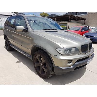 1/2005 Bmw X5 3.0d E53 4d Wagon Bronze 3.0L