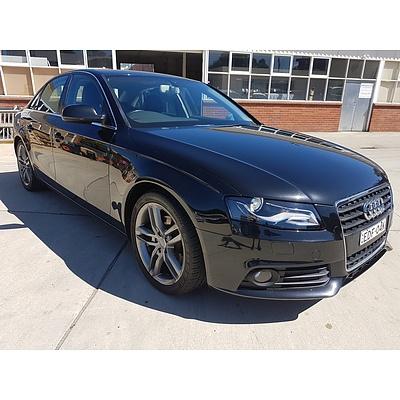 6/2012 Audi A4 2.0 TFSI B8 (8K) MY12 4d Sedan Black 2.0L