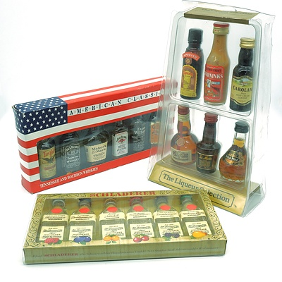 Three Boxed Miniature Spirit and Liqueur Sets (3)