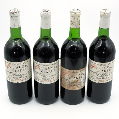 Penfolds Auldana Cellars 1970 St Henri Claret - lot of Four Bottles (4)
