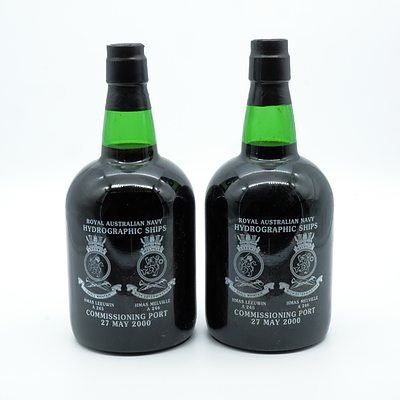 Royal Australian Navy Hydrographic Ships Commissioning Port May 2000 - 750ml - Lot of Two Bottles (2)