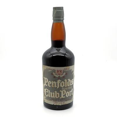 Penfolds Five Star Club Port - Vintage 1956