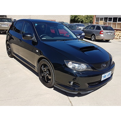 11/2007 Subaru Impreza WRX (awd) MY08 5d Hatchback Black 2.5L