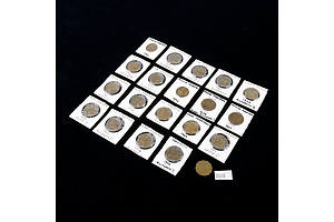 Twenty George V and Elizabeth II Bronze Three Pence, Various Dates 1941-1966