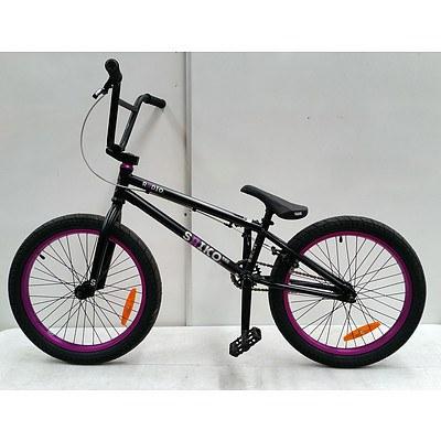 Radio saiko 2020 model Black/purple Single Speed Bmx Bike-Brand new