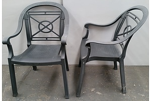 Grossfillex Victoria Outdoor Dining Chairs - Lot of 23