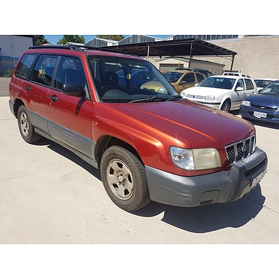 6/2000 Subaru Forester   4d Wagon Red 2.0L