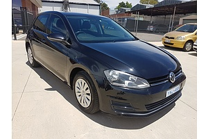 8/2013 Volkswagen Golf 90 TSI AU 5d Hatchback Black 1.4L