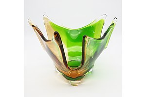 Vintage Murano Glass Footed Bowl