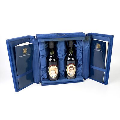 Wolf Blass Two Bottle Boxed Set - Charles and Diana Royal Wedding