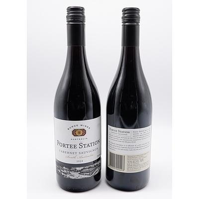 Burge Wines Portee Station 2014 Cabernet Sauvignon - Lot of Two Bottles (2)