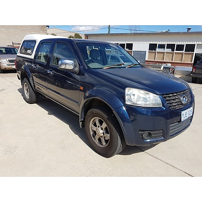 11/2012 Great Wall V200 (4x4) K2 Dual Cab Utility Blue 2.0L